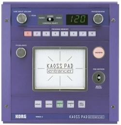 KAOSS Pad - Draufsicht (© KORG) - KAOSS PAD entrancer
