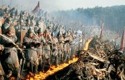 die Truppen des Maximus Decimus Meridius bei einer Schlacht gegen die Germanen - Gladiator