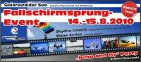 Fallschirmsprung-Event im Jetbootzentrum Lausitz