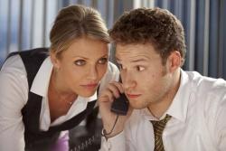 Lenore Case (Cameron Diaz) und Brit Reid (Seth Rogen) - The Green Hornet