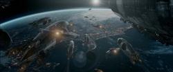 Weltraum Zeppeline auf dem Weg zur Erde - Iron Sky