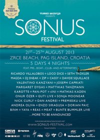 Sonus - Neues Festival in Kroatien vom 21.-25. August 2013