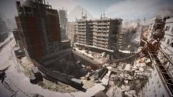 Blick von oben auf einen Teil der Karte Epicenter - dieser Teil gehört zum Hotspot dieser neuen Karte - Battlefield 3 - Aftermath