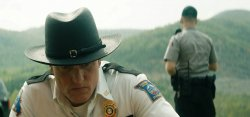 Sheriff Willoughby (Woody Harrelson) und Officer Dixon (Sam Rockwell) - Three Billboards Outside Ebbing, Missouri