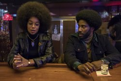 Patrice Dumas (Laura Harrier) und Ron Stallworth (John David Washington) - BlacKkKlansman